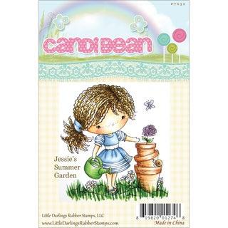 "CandiBean Cling Mounted Rubber Stamp 3.25""X3.179""-Jessie's Summer Garden"