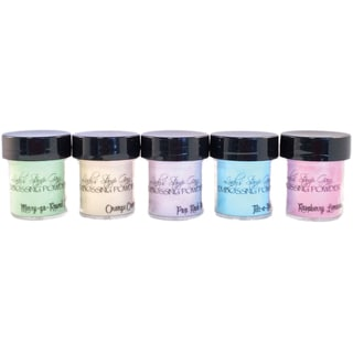 Lindy's Stamp Gang 2-Tone Embossing Powder .5oz 5/Pkg-Under The Boardwalk
