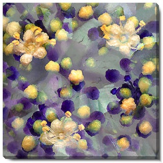 Studio Works Modern 'Popcorn Floral - Yellow' Fine Art Gallery Wrapped Canvas