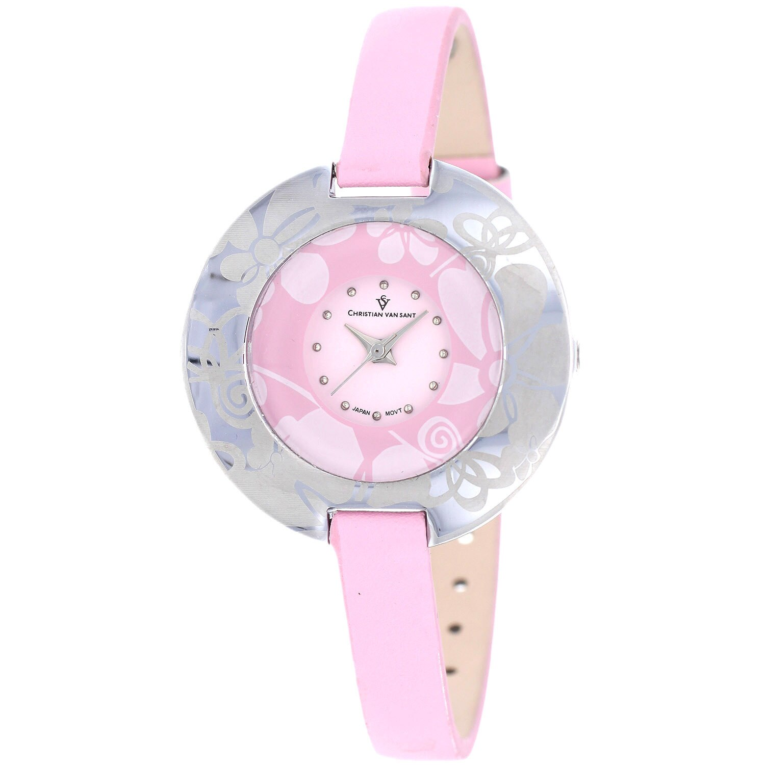 Christian Van Sant Women's Candy Watch, Pink, Size One Si...