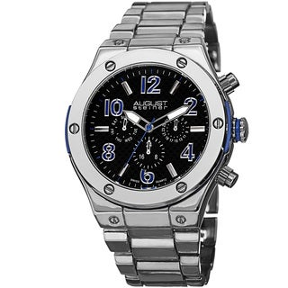 August Steiner Men's Swiss Quartz Multifunction Blue Bracelet Watch