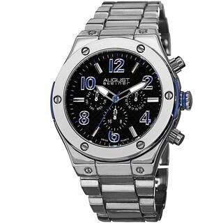 August Steiner Men's Swiss Quartz Multifunction Blue Bracelet Watch