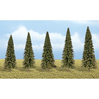 "Evergreen Trees 2"" To 3.5"" 5/Pkg"