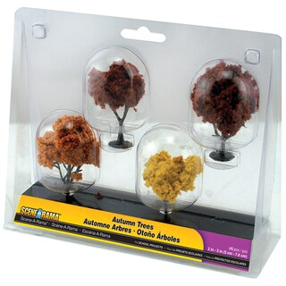 "Autumn Trees 2"" To 3"" 4/Pkg"