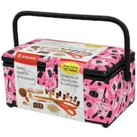 "Sewing Basket-11.5""X6""X6.5"" Pink Notions"