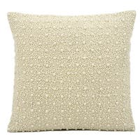 kathy ireland Pearls Ivory Throw Pillow (16-inch x 16-inch) by Nourison