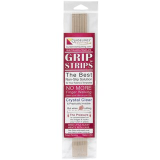 "Crystal Clear Grip Strips 6/Pkg-1/4""X11-3/4"""