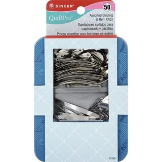 QuiltPro Assorted Binding & Hem Clips-50/Pkg