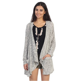 Hadari Juniors Grey Long Sleeve Open Cardigan
