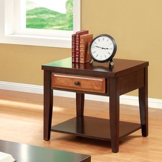 Furniture of America Berthal Two-Tone 1-Drawer End Table