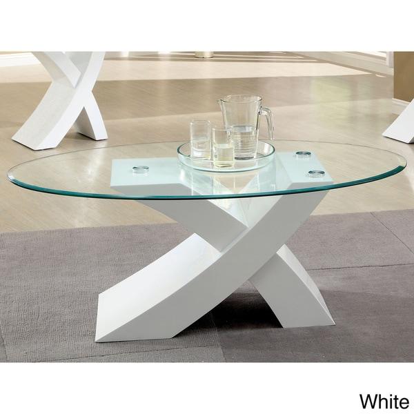 Furniture Of America C Modern X Base Coffee Table