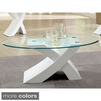 Furniture of America Cass Modern X-Base Coffee Table