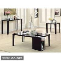 Furniture of America Ziyon 3-Piece High Gloss Duo-Tone Table Set
