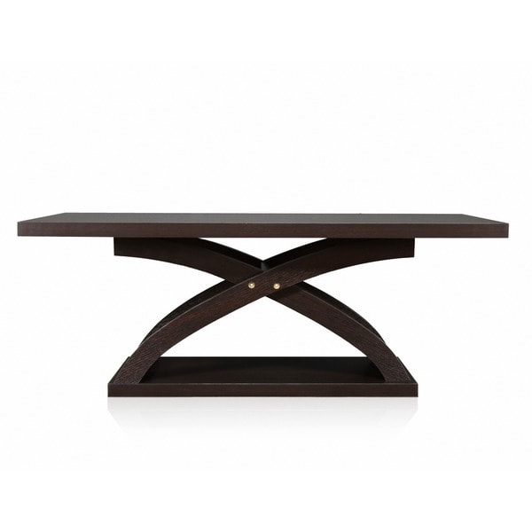 Furniture of America Barkley Modern Espresso X-Base Coffee Table - Free  Shipping Today - Overstock.com - 16428006