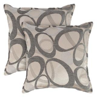 Sherry Kline Oh Graphite 18-inch Decorative Throw Pillows (Set of 2)