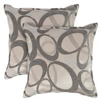 Sherry Kline Oh Graphite 18-inch Decorative Throw Pillows (Set of 2)