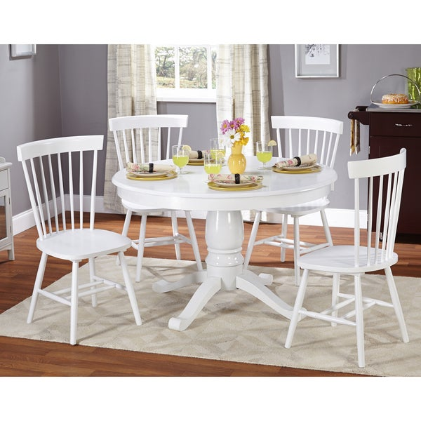 Shop Simple Living Kale 5 Piece White Dining Set Free Shipping Today 9264168