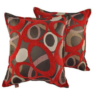 Sherry Kline Oh Red 18-inch Decorative Throw Pillows (Set of 2)