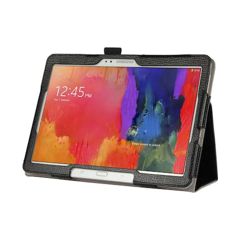 Black Double-Fold Folio Case for Samsung Galaxy Pro 12.2 in. Tablet