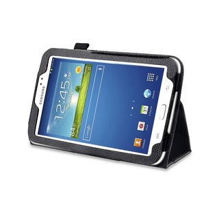 Black Double-Fold Folio Case for Samsung Galaxy Tab 3 7.0 in. Tablet