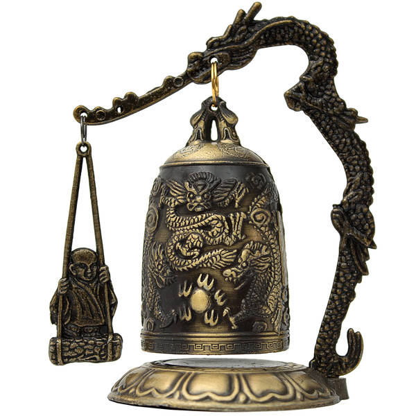 Handmade Decorative Metal Dragon Gong Accent Piece (China)