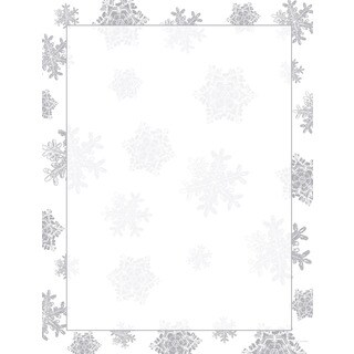 Icy Flakes Foil Border Holiday Designer Paper