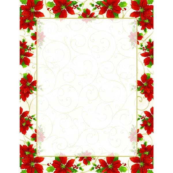 Poinsettia Swirl Holiday Designer Paper