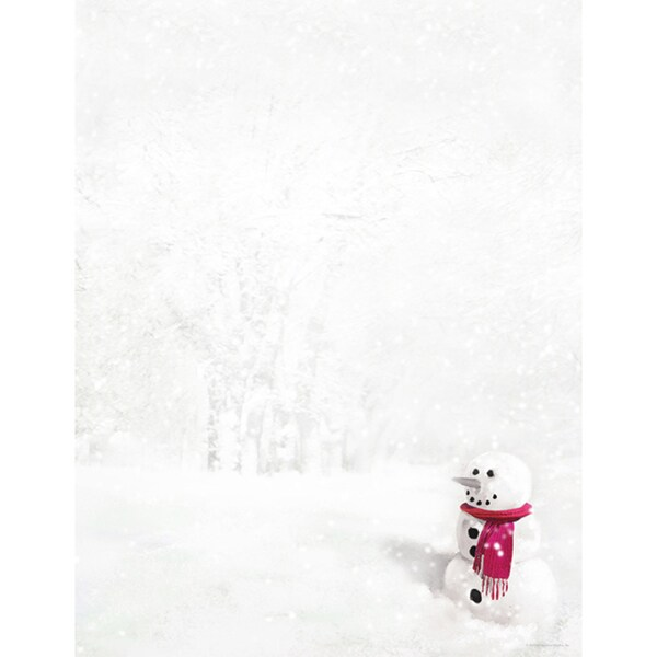 Snowman in Red Scarf Holiday Designer Paper