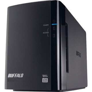 BUFFALO DriveStation Duo USB 3.0 2-Drive 4 TB Desktop DAS (HD-WH4TU3R