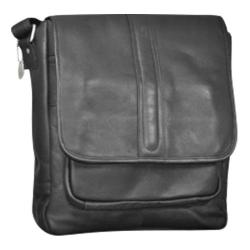 Men's David King Leather 155 Laptop Messenger Black