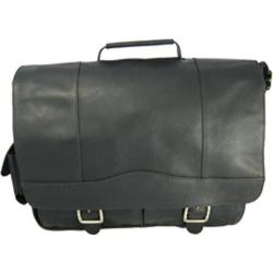 David King Leather 118 Porthole Briefcase Black