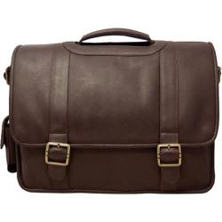 David King Leather 119 Porthole Computer Briefcase Cafe