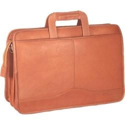 David King Leather 134 Triple Gusset Drop Handle Tan