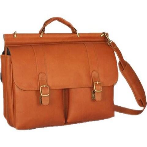 David King Leather 143 Dowel Laptop Briefcase Tan