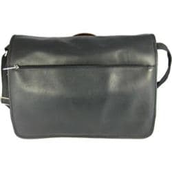 David King Leather 146 Laptop Messenger Bag Black