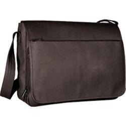 David King Leather 146 Laptop Messenger Bag Cafe