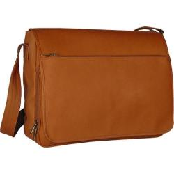 David King Leather 146 Laptop Messenger Bag Tan