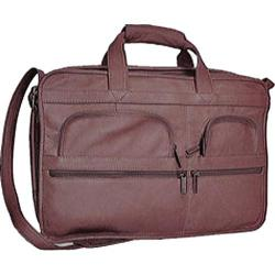 David King Leather 151 Organizer Briefcase Cafe