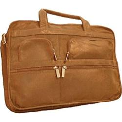 David King Leather 171 Organizer Briefcase Tan