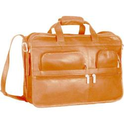 David King Leather 180 Expandable Laptop Bag Tan