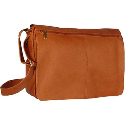 David King Leather 189 East/West Full Flap Messenger Tan