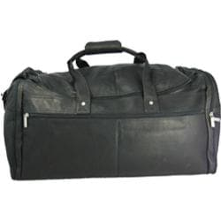 David King Leather 305 Extra Large Multi Pocket Duffel Black