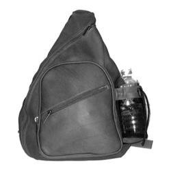 David King Leather 318 Black Sling Backpack