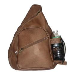 David King Leather 318 Backpack Style Cross Body Bag Cafe