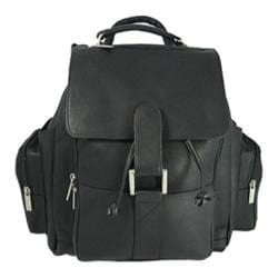 David King Leather 330 Top Handle XL Backpack Black