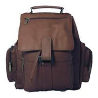 David King Leather 330 Top Handle XL Backpack Cafe