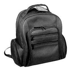 David King Leather 349 Oversize Laptop Backpack Black
