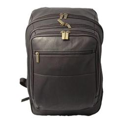 David King Leather 350 Oversized Laptop Backpack Cafe