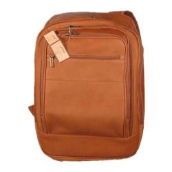 David King Leather 350 Oversized Laptop Backpack Tan - Thumbnail 0