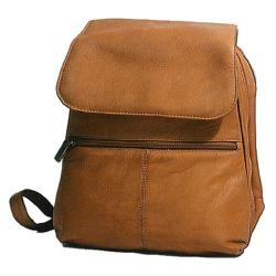 Women's David King Leather 351 Women's Organizer Backpack Tan